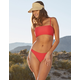 FULL TILT Red Cheekier High Leg Bikini Bottoms