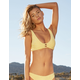 FULL TILT Textured Palm Cutout Bralette Bikini Top