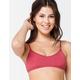 FULL TILT Pullover Bralette Brick Bikini Top