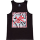 YOUNG & RECKLESS Snake Skin Square Mens Tank