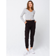 SKY AND SPARROW Twill Womens Black Cargo Pants