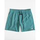 VOLCOM Lido Solid Mens Turquoise Volley Shorts