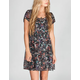 FULL TILT Floral Chiffon Babydoll Dress