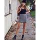IVY & MAIN Plaid Mini Skirt