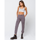 SKY AND SPARROW Twill Womens Grey Cargo Pants