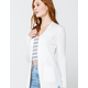 SKY AND SPARROW Rib Pocket Womens Cream Cardigan