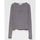 WHITE FAWN Stripe Cinch Purple Combo Girls Tee