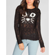 FULL TILT Cat Face Womens Sweater