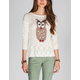 FULL TILT Owl Womens Sweater