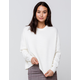 SKY AND SPARROW Drop Shoulder Womens Cream Sweater