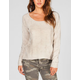 FULL TILT Intarsia Cross Womens Hi Low Sweater