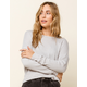 WEST OF MELROSE Options Open Back Womens Gray Thermal Top