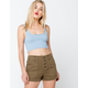 OTHERS FOLLOW Button Front Womens Shorts