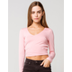 RSQ V-Neck Womens Dusty Pink Tee