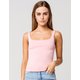 RSQ Square Neck Womens Dusty Pink Tank Top