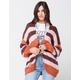 RSQ Stripe Fuzzy Womens Cardigan