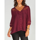FULL TILT Womens Peasant Top