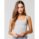 RSQ Square Neck Womens Heather Grey Tank Top