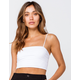 HEART & HIPS Womens White Cropped Cami