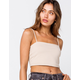 HEART & HIPS Womens Taupe Cropped Cami