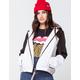 ASHLEY Fur Hood Colorblock Womens Windbreaker