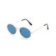 Metal Oval Blue Sunglasses