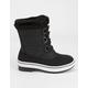 LUCKY TOP Black Girls Winter Boots
