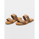 BAMBOO Double Strap Camel Womens Sandals