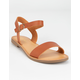 SODA Ankle Strap Womens Tan Sandals