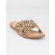 SODA Crisscross Cheetah Womens Slide Sandals