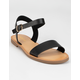 SODA Ankle Strap Womens Black Sandals
