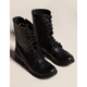 STEVE MADDEN Troopa Lace Up Womens Black Combat Boots