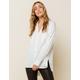 WEST OF MELROSE Risky Business Womens Hi-Low Button Shirt