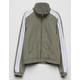 FULL TILT Cropped Girls Sage Windbreaker Jacket