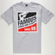 FAMOUS STARS & STRAPS 3 Pack 100 Mens T-Shirt