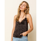WEST OF MELROSE Lacey Day Deep V Satin Womens Cami