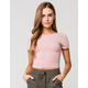 BOZZOLO Crew Neck Womens Pink Tee