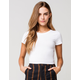 BOZZOLO Crew Neck Womens White Crop Tee