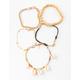 FULL TILT 5 Pack Puka Shell & Chain Bracelet Set