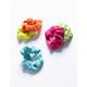 FULL TILT 5 Pack Ribbed Neon Scrunchies