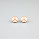 GOODWOOD NYC Peace Stud Earrings