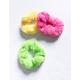 FULL TILT 3 Pack Neon Teddy Scrunchies