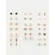 FULL TILT 20 Pair Cross & Star Earring Set