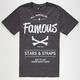 FAMOUS STARS & STRAPS Built To Last Mens T-Shirt