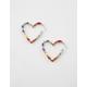 FULL TILT Heart Rainbow Hoop Earrings