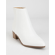 CITY CLASSIFIED Point Toe Womens White Booties