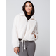 KNOW ONE CARES Fur Zip Womens Off White Jacket