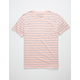 THE NARROWS Striped Mens Pocket Tee