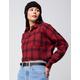 LUMIERE Crop Plaid Womens Flannel Shirt