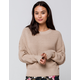 RAG SUPPLY Drop Shoulder Womens Sand Sweater